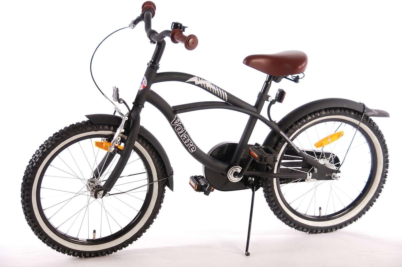 Kubbinga Volare Black Cruiser Bicicleta de niño, Niños, Negro Mate ...