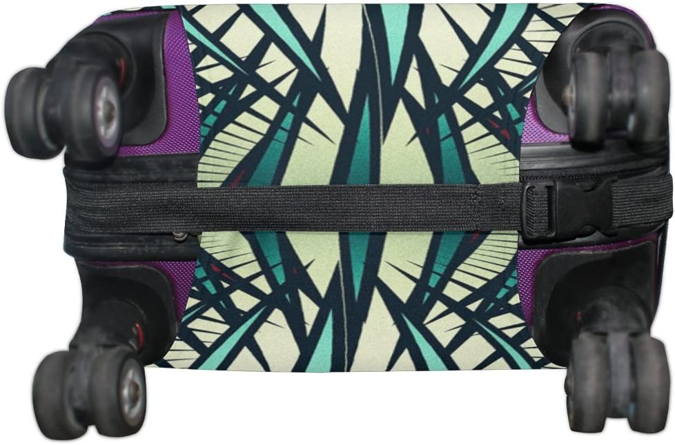 LEISISI Retro Pattern Luggage Cover Elastic Protector Fits XL 29-32 inch Suitcase