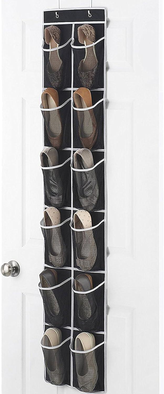 Door organizer amazon 24 pockets simplehouseware for 12 pocket over the door shoe organizer