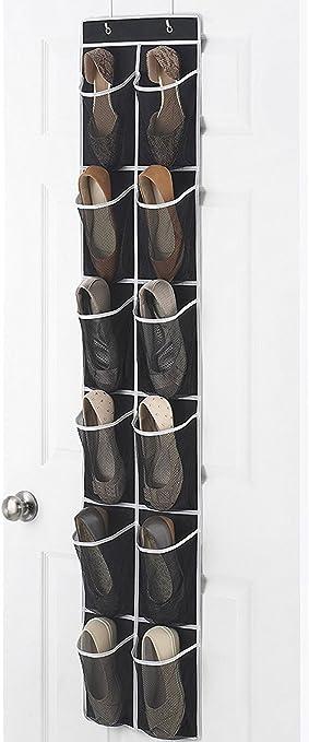 Zober Narrow Over the Door Shoe Organizer with 12 Mesh Pockets Over the Door Organizer & Amazon.com: Zober Narrow Over the Door Shoe Organizer with 12 Mesh ... Pezcame.Com