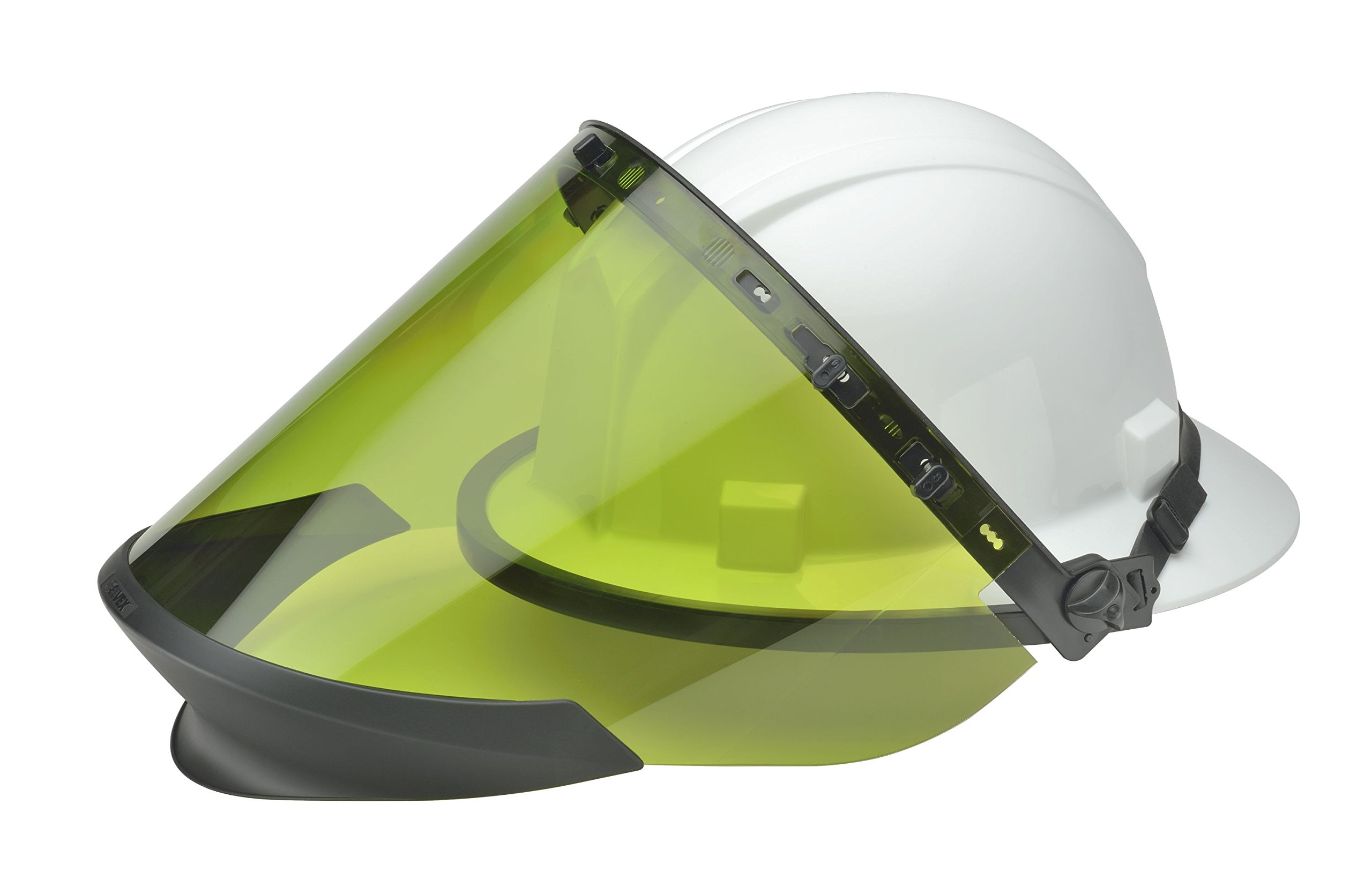Elvex WELCUARC7BASIC Flash-Pro Basic Head-Face Arc Protection Kit Cu-Arc-7-Basic Full Brim Cap, PPE Risk Cat 2 Arcfit 14 Shield Chin Protector, VB-65, 10'' Height, 8'' Wide, 9'' Length, One Size, White by Elvex