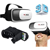 Gotitronics Virtual Reality kulaklık için, 3D gözlük iPhone 5/6/7, Galaxy S5/S6/S7ve diğer 10,2cm–15, 2(4–6inç) Cep telefonları, 3D film, Panorama-video ve titiz oyunları (VR Box 2.0) VR-GTS002