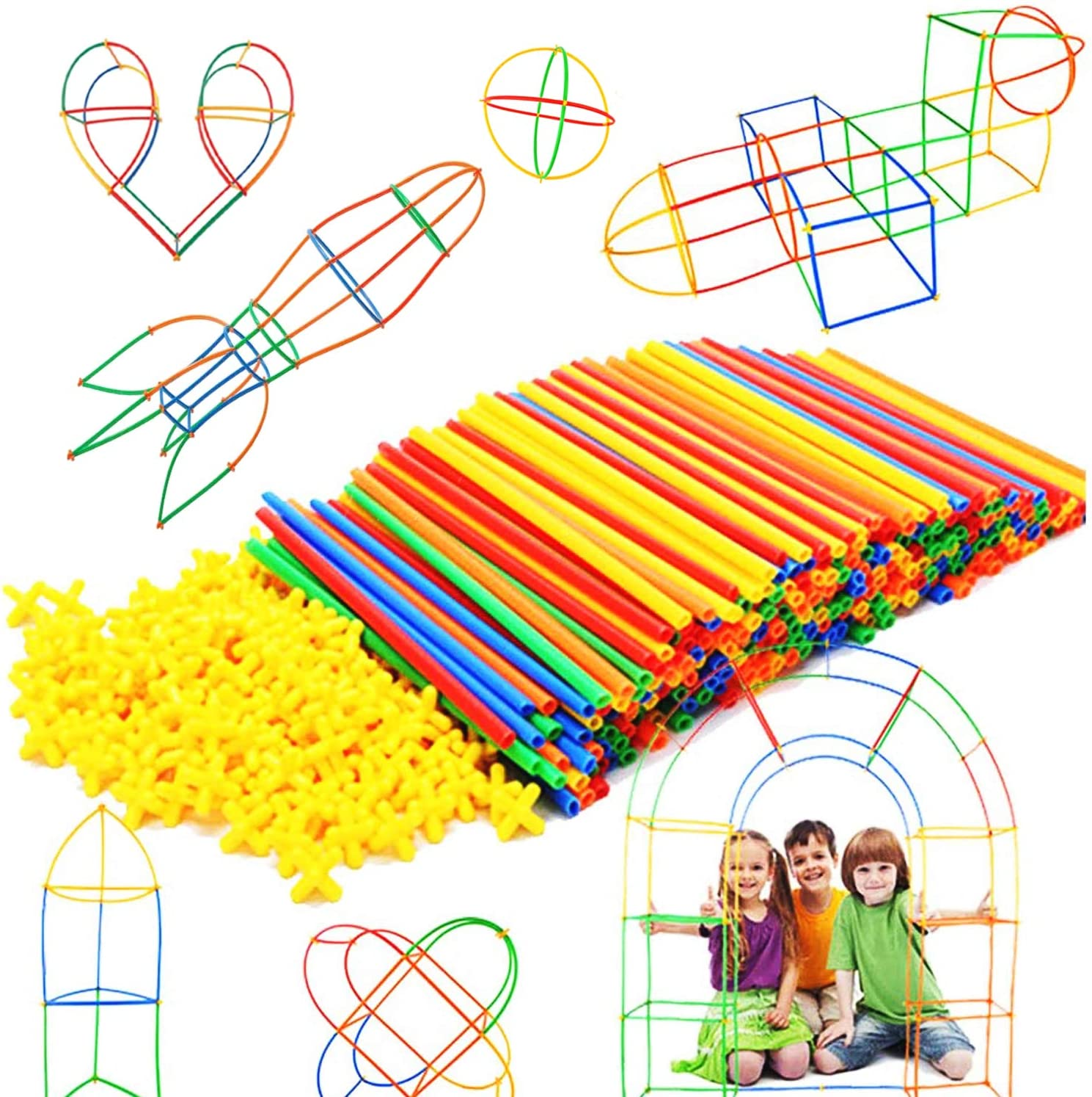 RAINBOW TOYFROG 300 pcs STEM Building Toys $14.44 Coupon