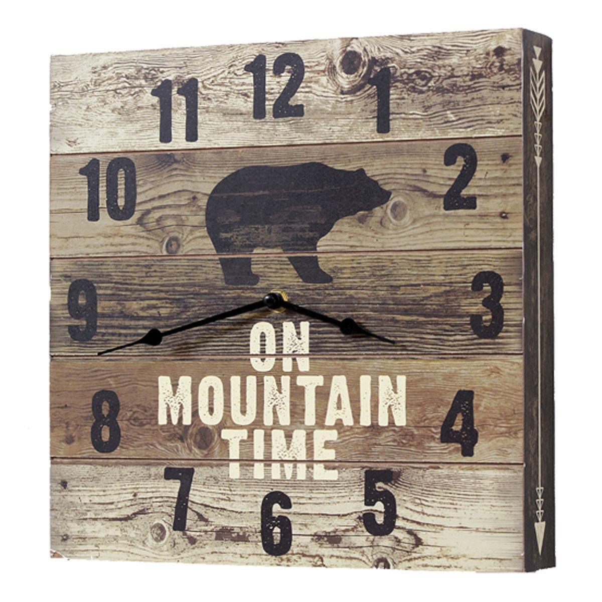 BLACK FOREST DECOR Bear Mountain Time Wall Clock