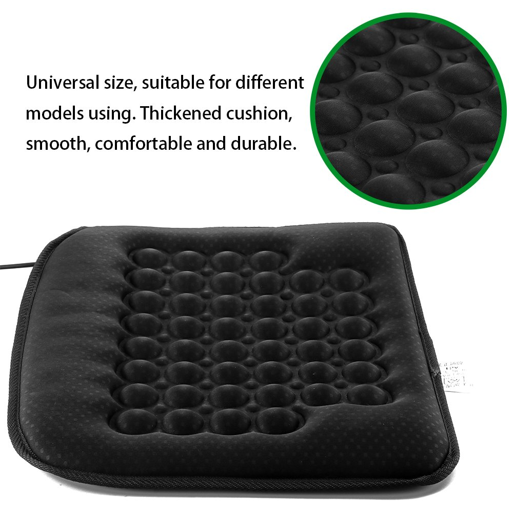 DDSKY Car Heated Pad Car Heated Seat Cushion Heating Pad Cover Hot Warmer for Cold Weather Winter Driving Black