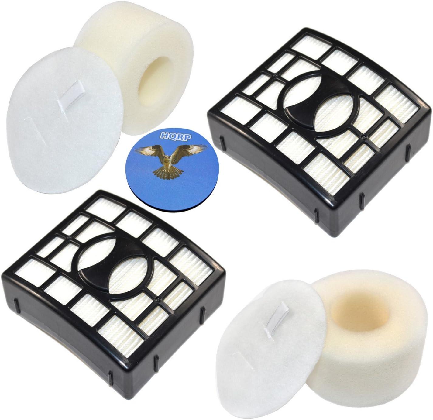 HQRP 2-Pack Filter Kit for SharkRotator NV680 NV681 NV682 NV683 Powered Lift-Away Speed Vacuum Cleaner (HEPA+ Foam & Felt) Plus Coaster