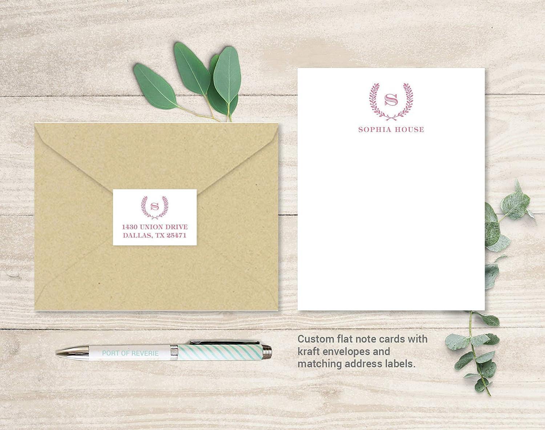2 Letter KA Monogram Note Cards Monogrammed Wedding Thank You Cards AK Interlocking Monogram Folded Note Cards Wedding Stationery
