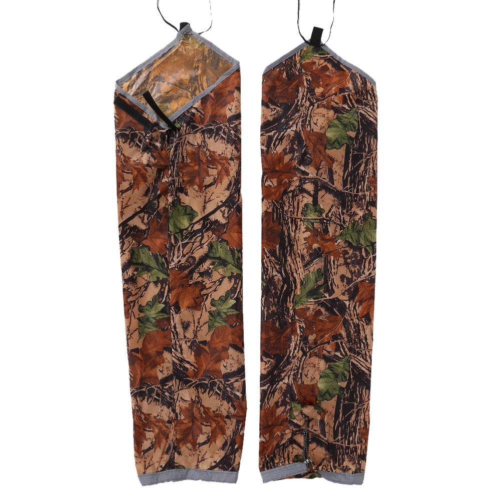 Alomejor Rain Bibs Pants, Portable Waterproof Elastic Straps Rain Pants for Outdoor Activities(Camouflage)