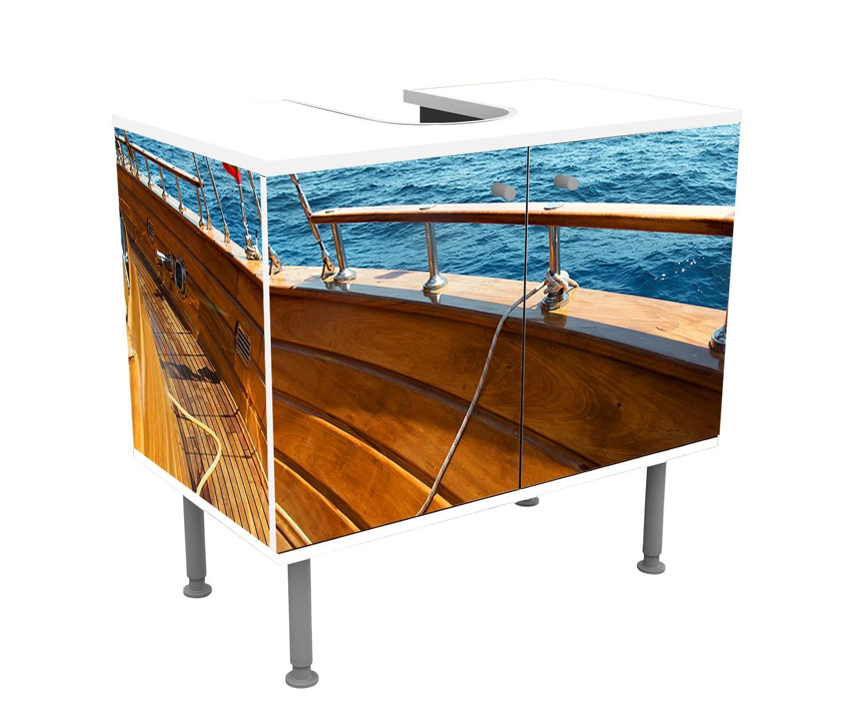 wandmotiv24 Mueble de baño Yate en el mar en día Soleado Pegado Frontal y Lateral Lavabo, Mueble Lavabo M0795: Amazon.es: Hogar