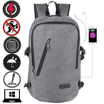 Litthing Mochila para Hombres y Mujeres Estudiantes universitarios Mochila Escolar Carga USB Bolsa de Viaje al Aire Libre (Gris): Amazon.es: Deportes y aire ...