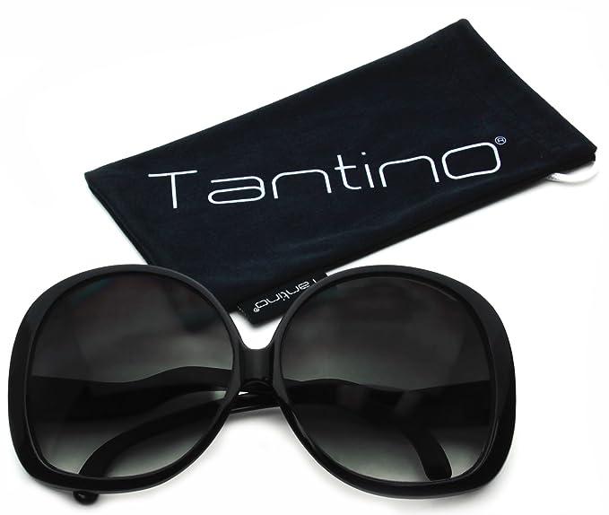 6e584b5cac Tantino Big Huge Oversized Square Sunglasses Womens Fashion Black Frame