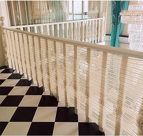 HUANPIN Red de Seguridad para niños, Balcón, Patios y barandillas para escaleras, Red de riel Seguro para niños/Mascotas/Juguetes, Material de Tela de Malla Resistente, (300 * 80cm),A: Amazon.es: Hogar