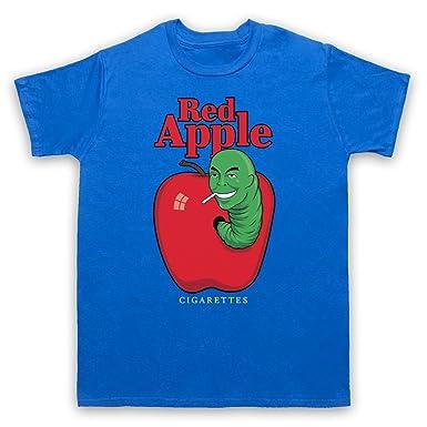 Red Apple Cigarettes Tarantino Fake Brand Herren T-Shirt, Blau, Small