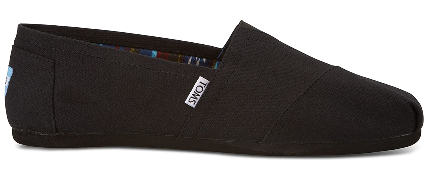 5c37b73a53 Amazon.com | TOMS Men's Classic Slip-On (9.5 M US, Black on Black) |  Loafers & Slip-Ons