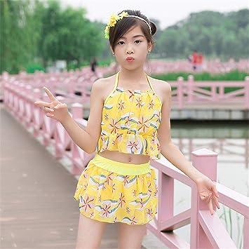c4ebb6618 OOFAY Traje De Baño para Niñas Patrones Geométricos 2 Piezas 5-8 Años  Vestido De Playa Bikini para Niños Vestido De Princesa