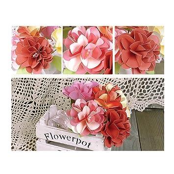 Phenovo Diy Paper Crafts Flowers Wedding Home Office Decor