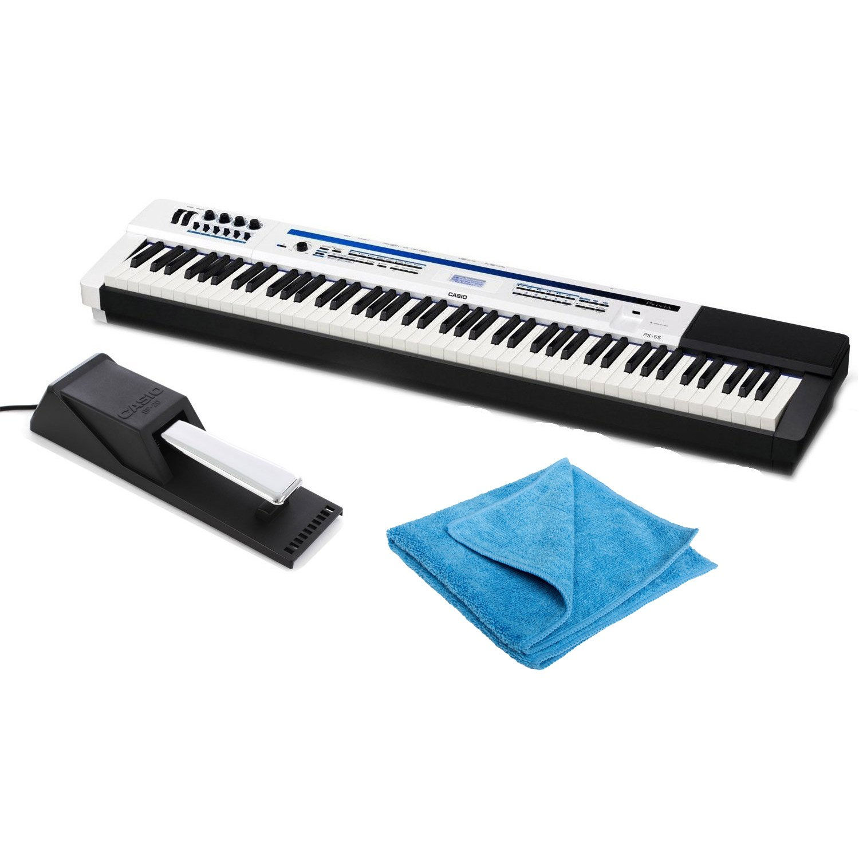 Casio Privia PX-5S Digital Stage Piano Bundle with Digital Piano Sustain Pedal and Zorro Sounds Digital Piano Polishing Cloth