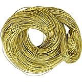 Multifuncional Cuerda Cadena Dorada Metalica Para Joyeria Tarjeta Trenza