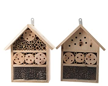 Casa de madera al aire libre grande Decoris insecto Hotel jardín insectos insecto mariposa burrda: Amazon.es: Jardín