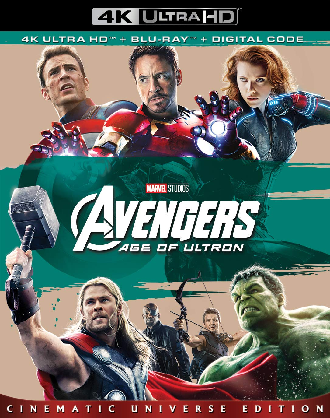 Avengers: Age of Ultron [USA] [Blu-ray]: Amazon.es: Downey, Robert, Jr., Hemsworth, Chris, Ruffalo, Mark, Evans, Chris, Renner, Jeremy, Johansson, Scarlett, Jackson, Samuel L., Olsen, Elizabeth, Whedon, Joss, Spader, James, Downey, Robert, Jr.,