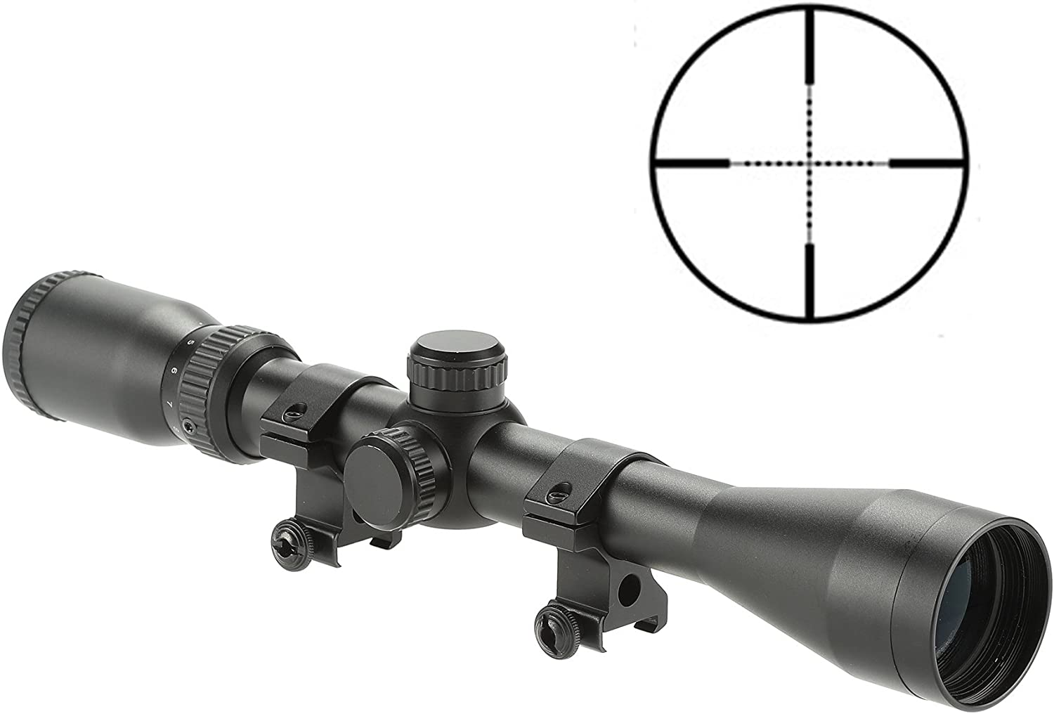 NcSTAR STP3942G Combo 3-9×42 P4 Sniper Scope Plus Micro Green Dot DGAB Plus Adapter Mount MRD34