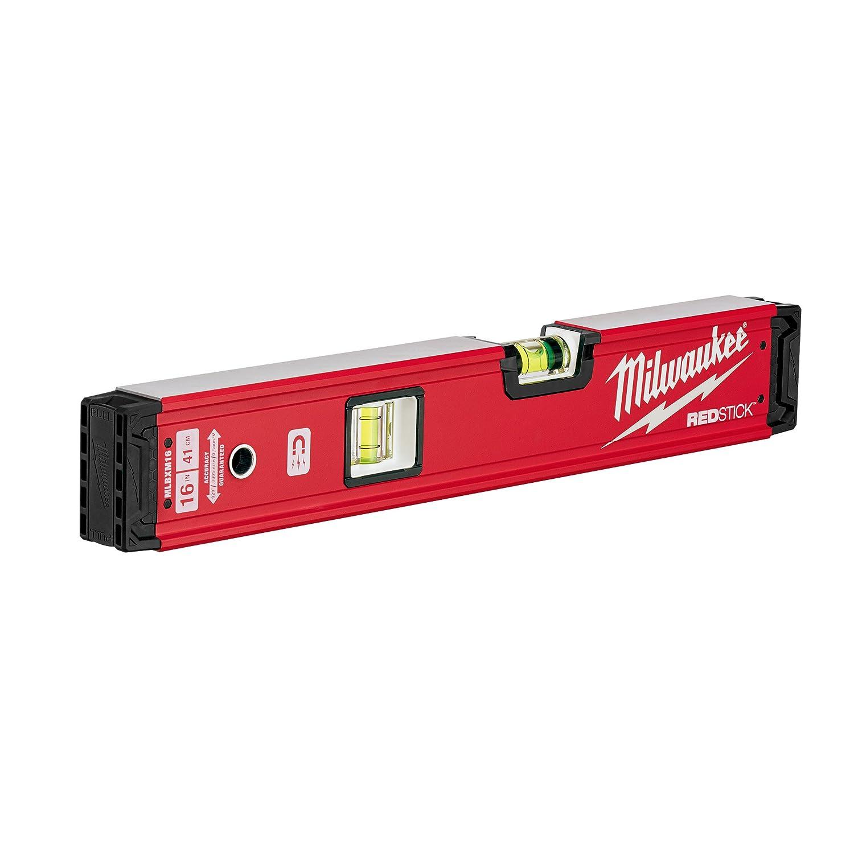 Milwaukee 4932459061 40 cm redstick Rü ckgrat Magnetische Wasserwaage, rot/schwarz/silber