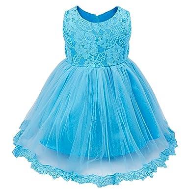 Amazon.com: FEESHOW Baby Girl Lace Flower Princess Wedding Party ...