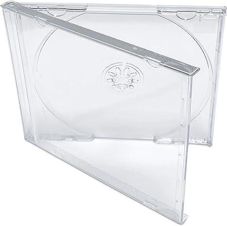 25 pcs 10.4 mm Standard Single Clear CD Jewel Case Assembled Clear Tray