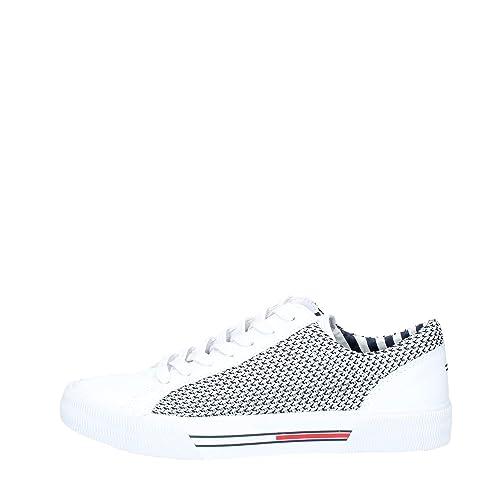 online Shop Abstand wählen 100% original Tommy Hilfiger Herren Sneaker Textile City, Weiß, 41 EU