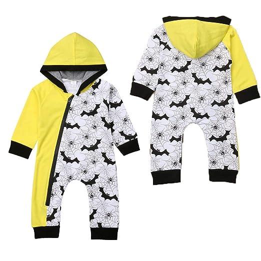 656ee5c77f0 liberalism Funny Newborn Infant Baby Boy Winter Hooded Romper Long Sleeve  Spider Net Bat Print Jumpsuit