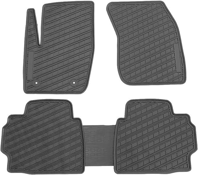 Orealtech Fußmatte Auto Für Ford Mondeo Fusion 2017 2018 2019 Allwetter Original Qualität Autoteppich Latex Schwarz 5 Teilig Automatte Vorn Und Hinten Auto