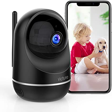 Victure Dualband 2.4Ghz and 5Ghz 1080P Pet WiFi Camera Baby Monitor with Camera,