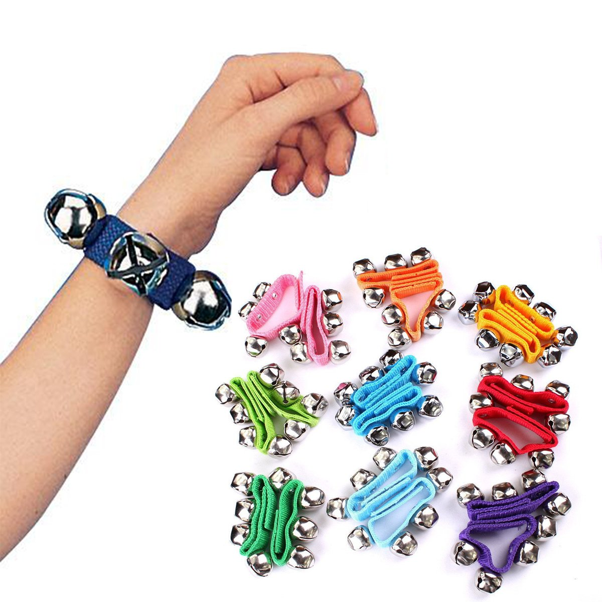 Band Wrist Bells,LLOP Musical Rhythm Toys Wrist Bells and Ankle Bells Wrist Foot Bell Instrument Percussion Orchestra Rattles Toy For Children Kids (1Pcs, Blue)