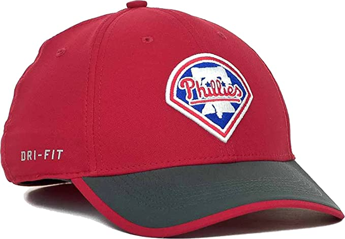 NIKE Philadelphia Phillies MLB Logo Legacy91 Swooshflex Stretch Dri-FIT Cap  Hat at Amazon Men s Clothing store  9e8f5016863