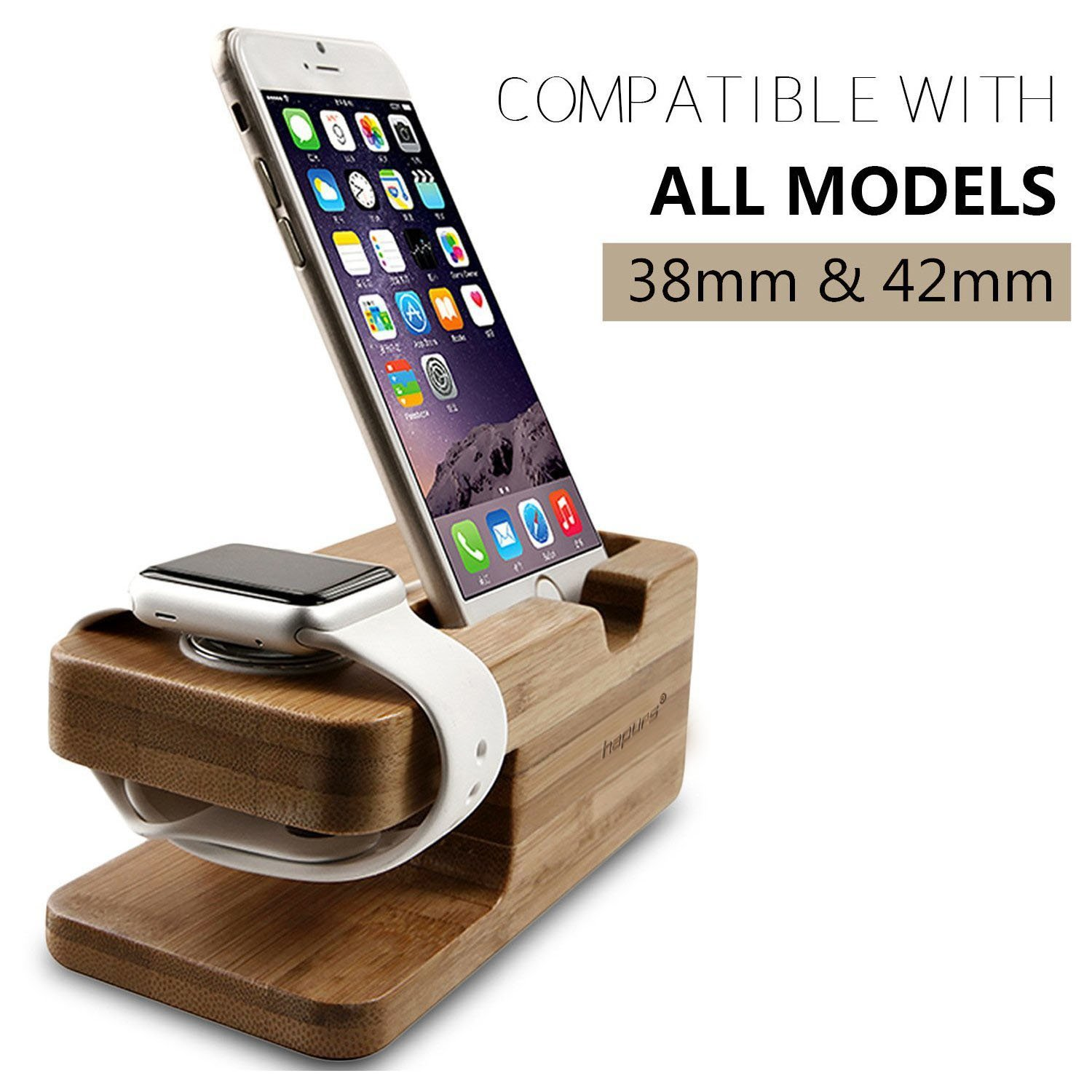dp charge bamboo cradle station charging ipad for and plus dock iphone iwatch stock watch stand watches hapurs wood holder both apple