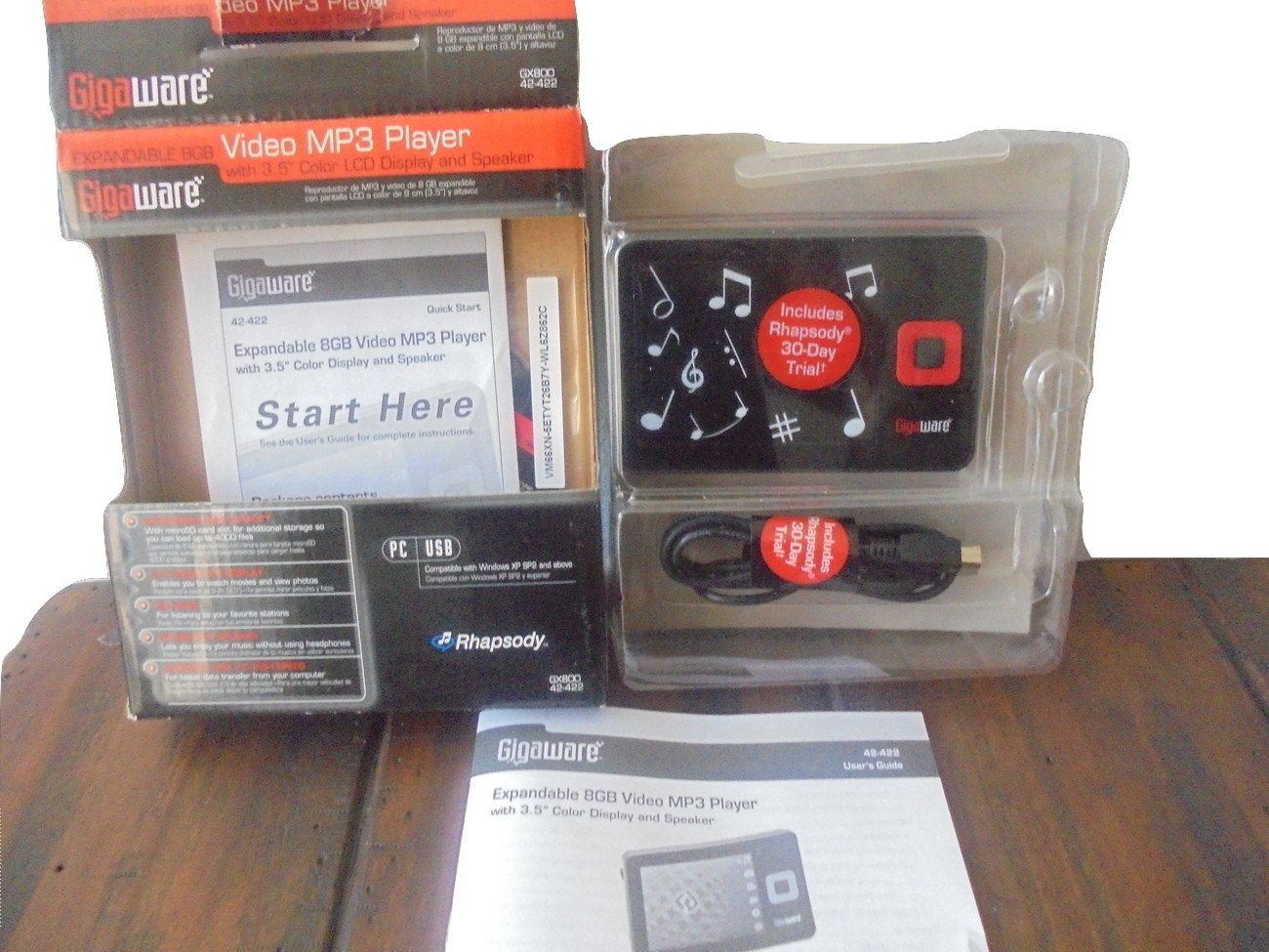 GIGAWARE 4GB VIDEO MP3 PLAYER DRIVERS