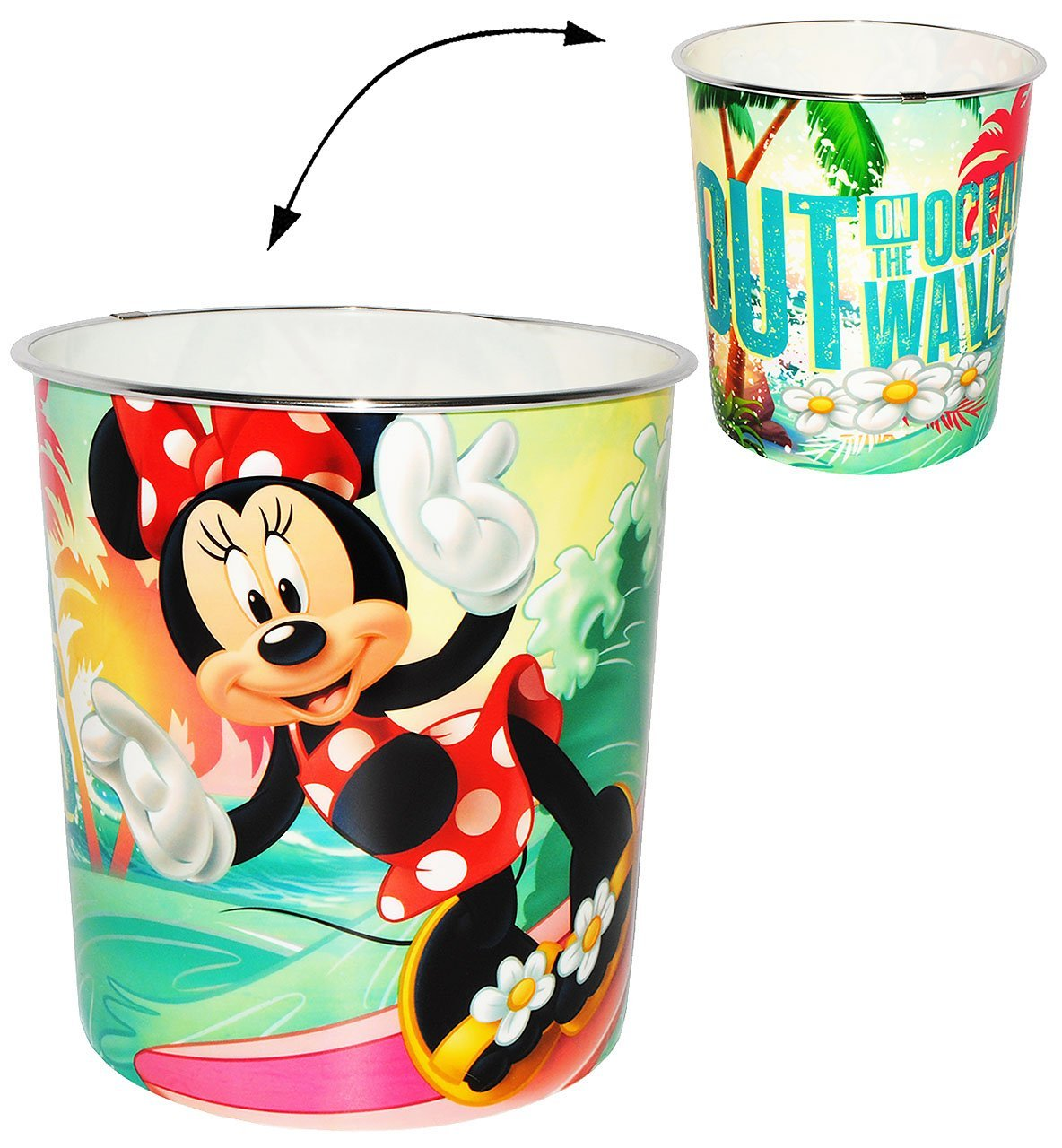 alles-meine.de GmbH Papierkorb - Disney Minnie Mouse - Incl. Name - Kunststoff - Mülleimer Eim..