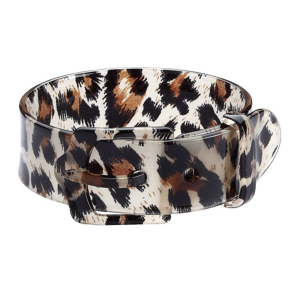 Bangle-bracelets Animal Print Belt Buckle Style Made With Acrylic