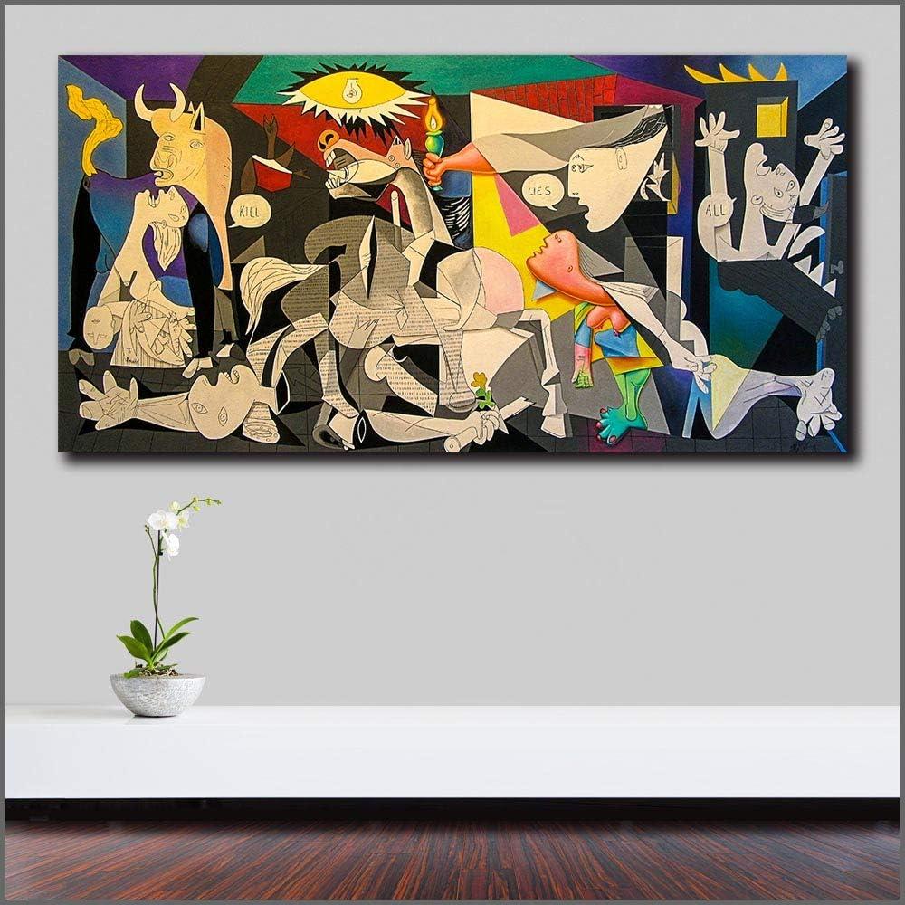 QAZXSW Pintura al óleo Arte Lienzo Pintura impresión Sala de Estar decoración del hogar Moderno Arte de la Pared Pintura al óleo Cartel sin Marco 50x120 cm (sin Marco)