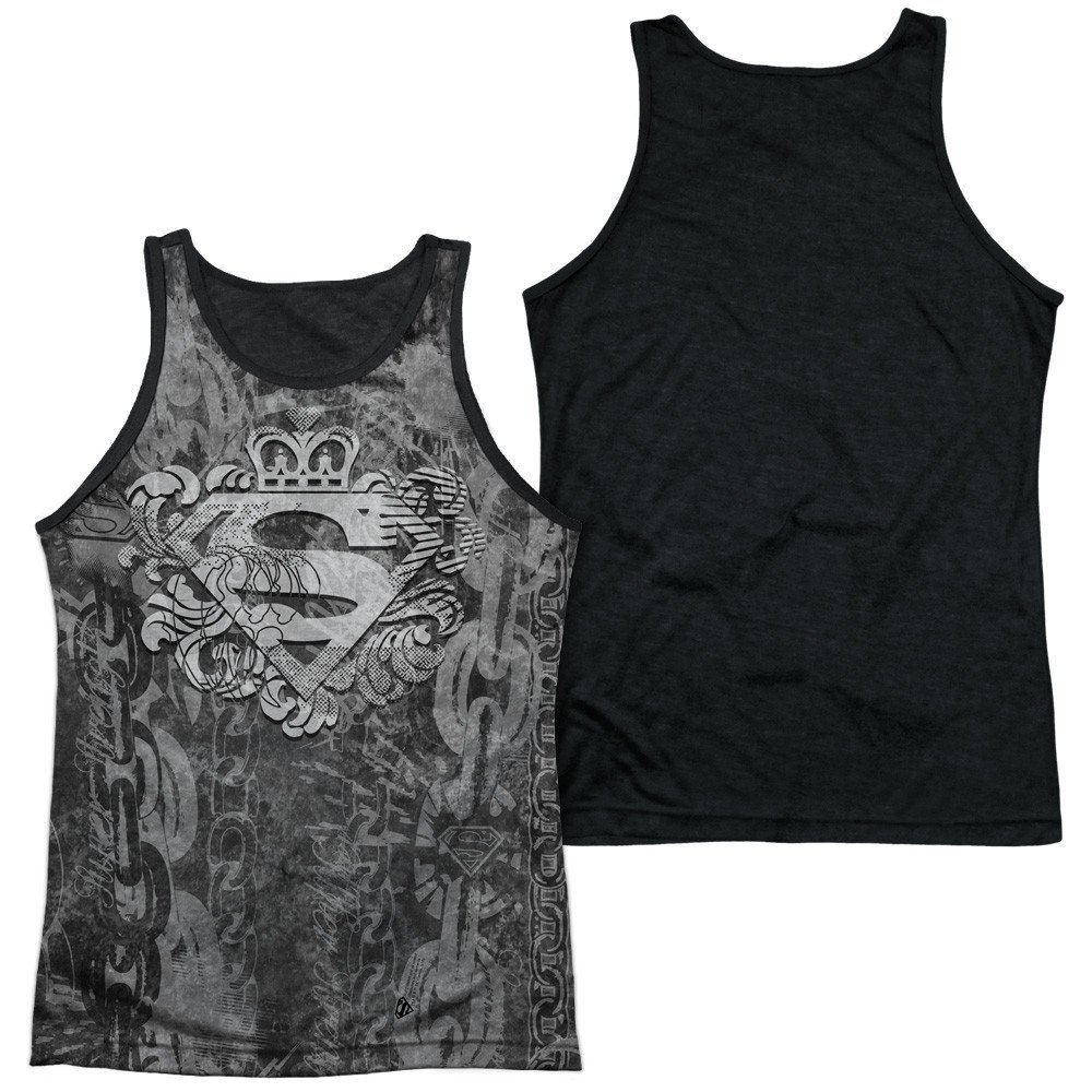 Superman Unchain The King Adult Tank Top