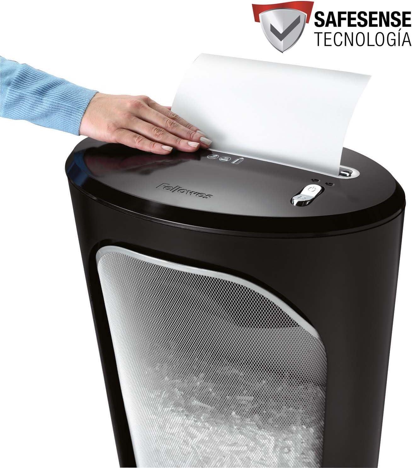 Fellowes DS-1 - Destructora trituradora de papel, corte en partículas, 11 hojas, color negro y plateado: Amazon.es: Oficina y papelería