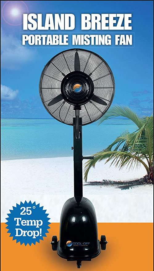 26-Inches Cool-Off 12 Gallon Island Breeze Oscillating Misting Fan