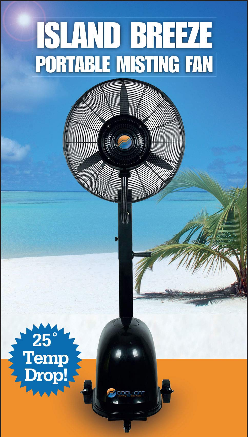 Cool-Off 12 Gallon Island Breeze Oscillating Misting Fan with 3-Speed Quiet Operation by Cool-Off