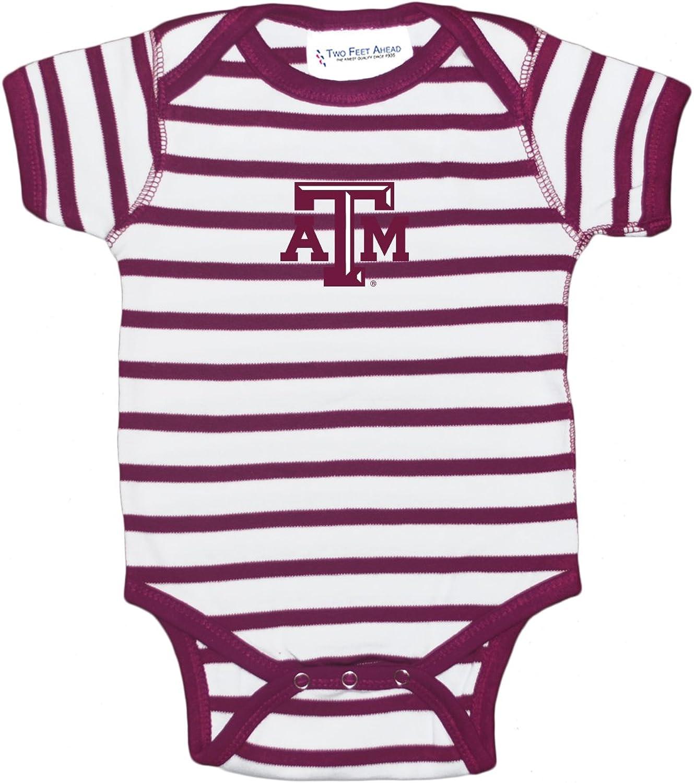 Two Feet Ahead NCAA College Girls Newborn Infant Hearts Bodysuit Creeper