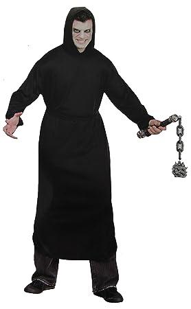 Muerte Padre tiempo traje negro capa con capucha Halloween ...