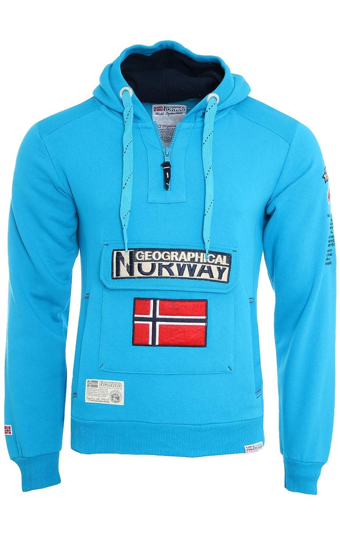 Felpa GEOGRAPHICAL NORWAY GymClass Uomo Men tascone half Zip