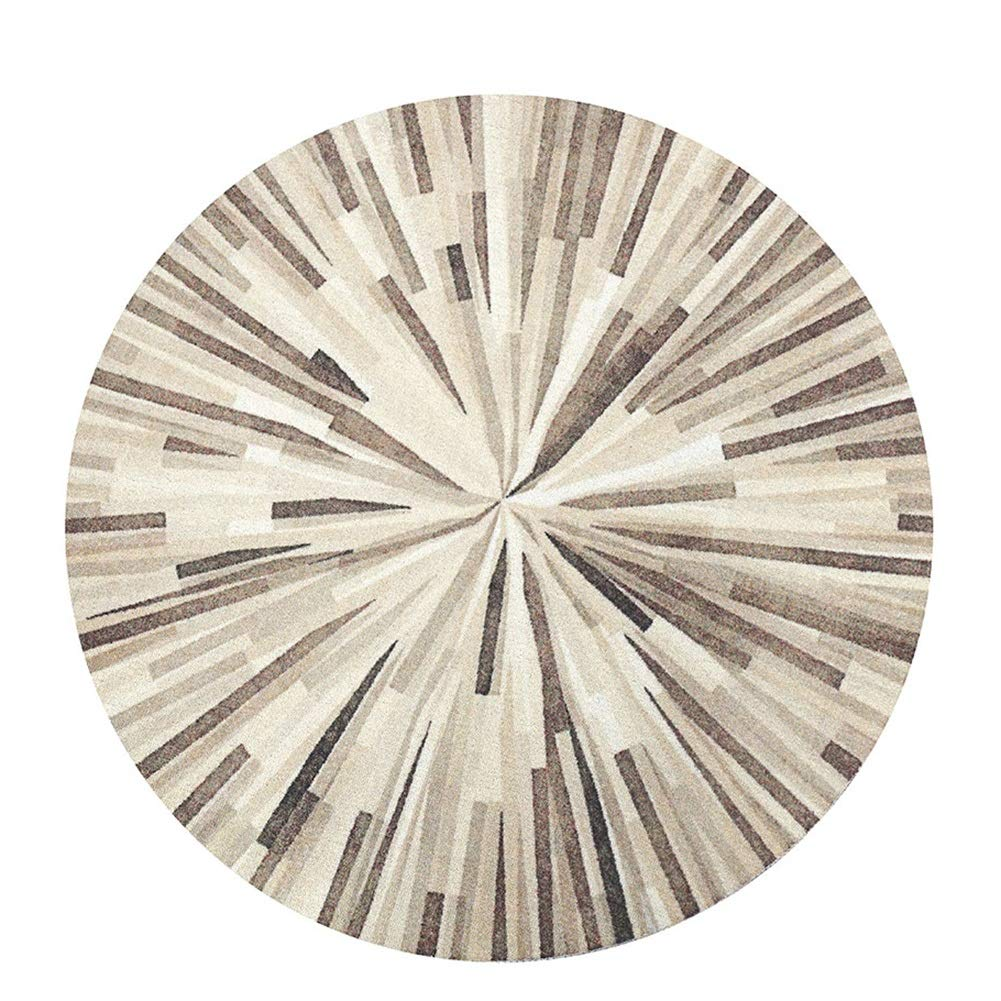 Teppiche Matten Teppichmaterial Teppich Stufenmatten Kurzflorteppich Rundes Wohnzimmer Haushaltsschlafzimmer Modern Einfacher Retro Amerikaner ZHAOYONGLI (Farbe   Wood Grain, größe   1m)