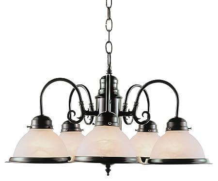Trans Globe Lighting 1092 ROB Indoor Baldwin 23 Chandelier, Rubbed Oil Bronze