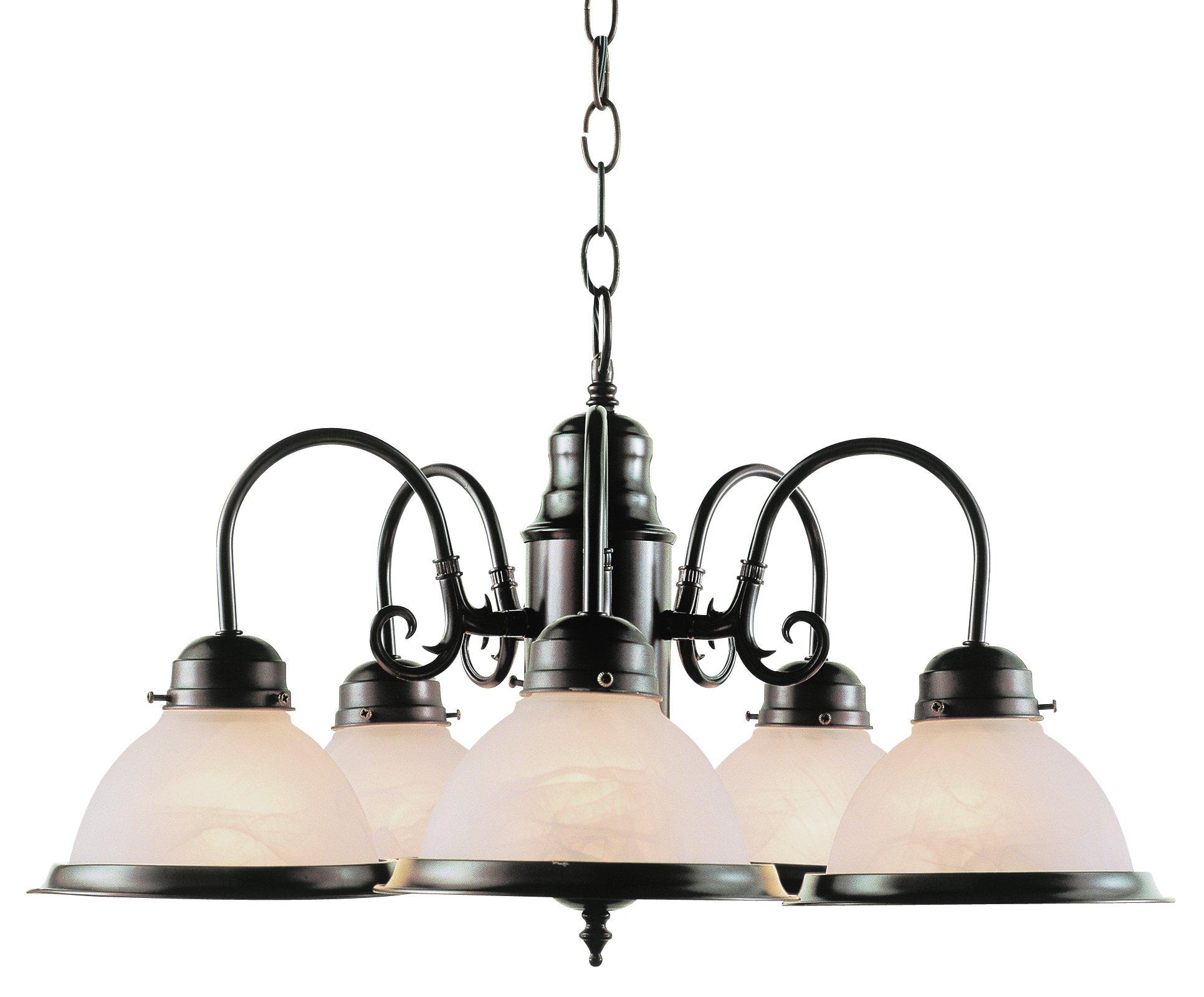 Trans Globe Lighting 1092 ROB Indoor Baldwin 23'' Chandelier, Rubbed Oil Bronze by Bel Air Lighting