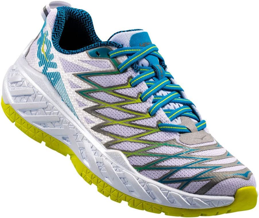 Hoka Clayton – 2 Women – White/Acid, weiß, 9: Amazon.es: Deportes y aire libre